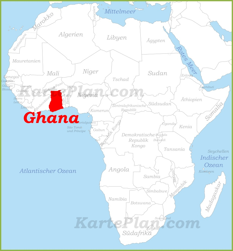 Ghana Karte.Ghana Auf Der Karte Afrikas