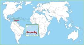 Grenada auf der Weltkarte