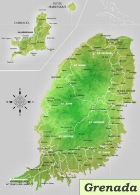 Straßenkarte Grenada