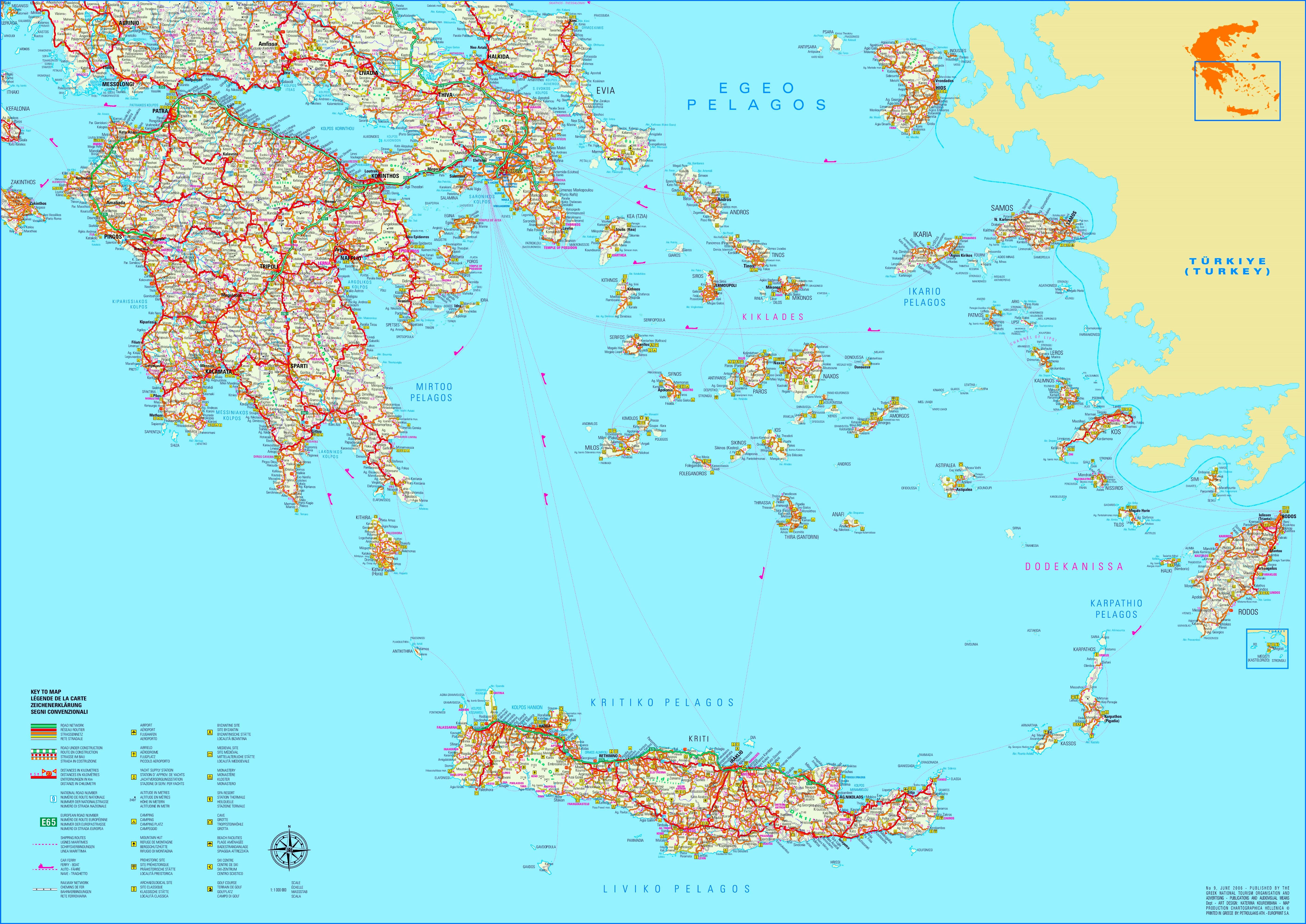 Griechenland Karte Mit Inseln
