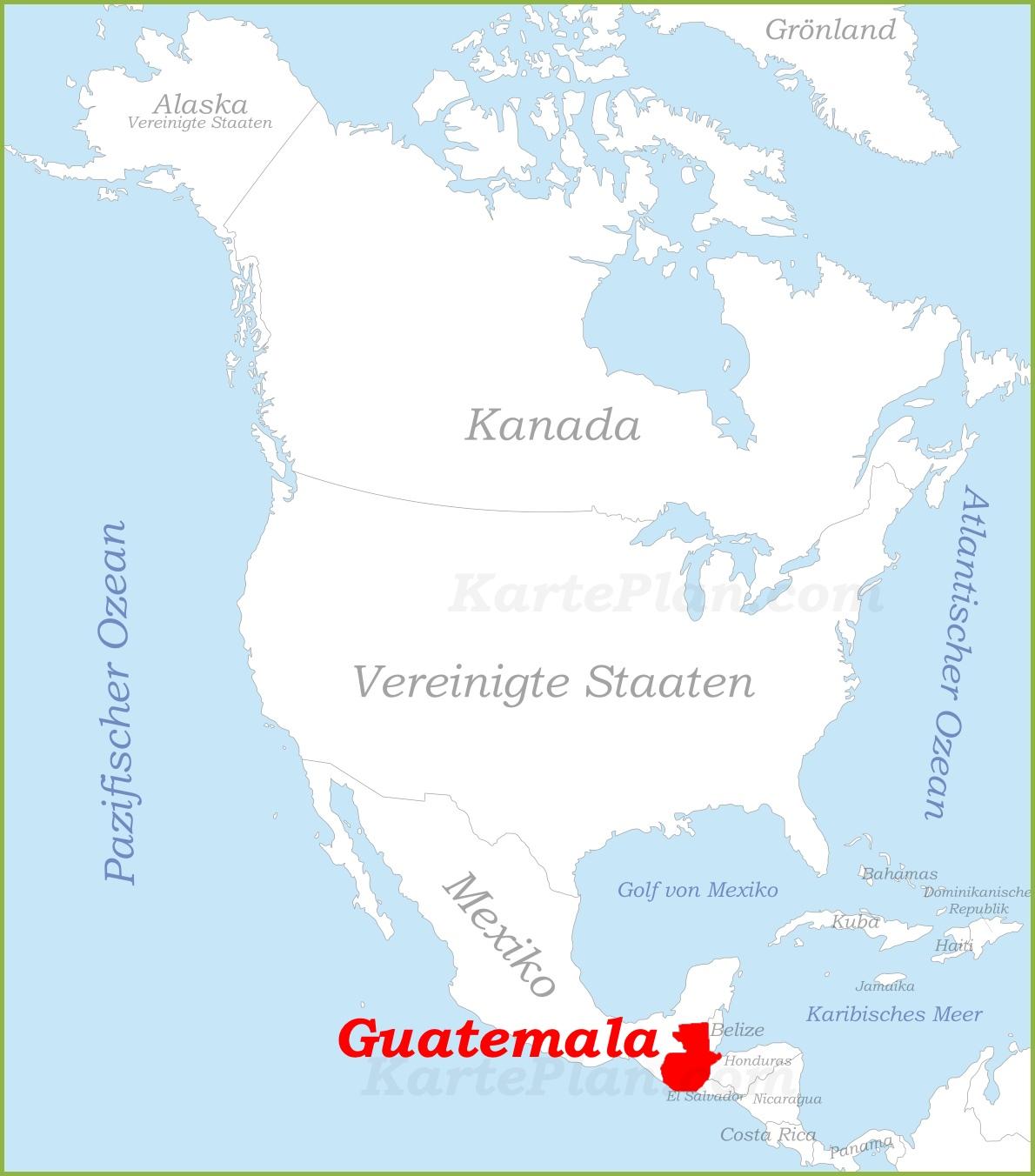 Guatemala Karte.Guatemala Auf Der Karte Nordamerika