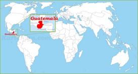 Guatemala auf der Weltkarte