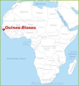 Guinea-Bissau auf der karte Afrikas
