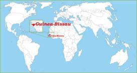 Guinea-Bissau auf der Weltkarte