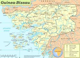 Guinea-Bissau politische karte