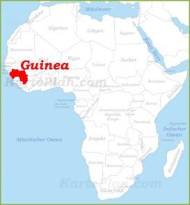 Guinea auf der karte Afrikas