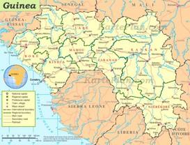 Straßenkarte Guinea