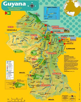 Guyana touristische karte