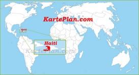 Haiti auf der Weltkarte