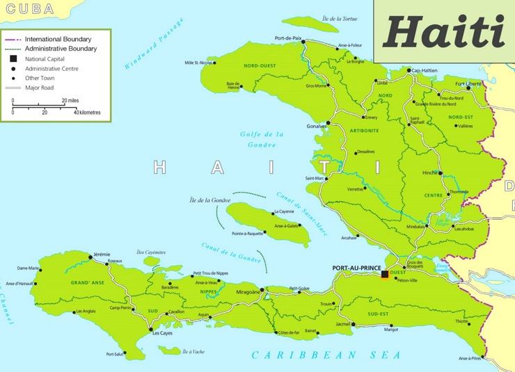 Haiti politische karte