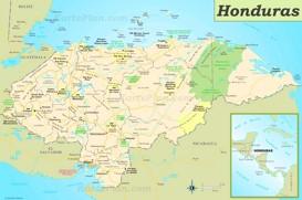 Straßenkarte Honduras