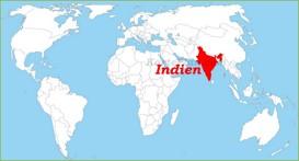 Indien auf der Weltkarte