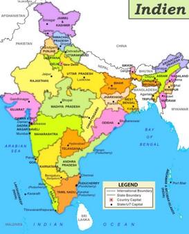 Indien politische karte