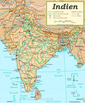 Straßenkarte Indien