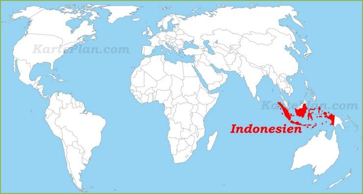 Indonesien auf der Weltkarte