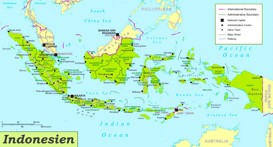 Indonesien politische karte