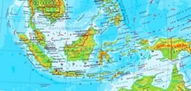 Physische landkarte von Indonesien