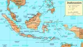Straßenkarte Indonesien