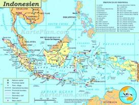 Verwaltungskarte von Indonesien