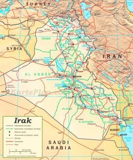 Irak politische karte