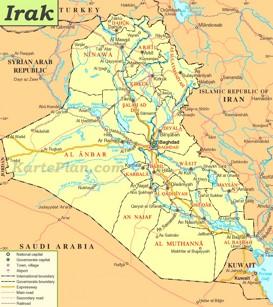 Straßenkarte Irak
