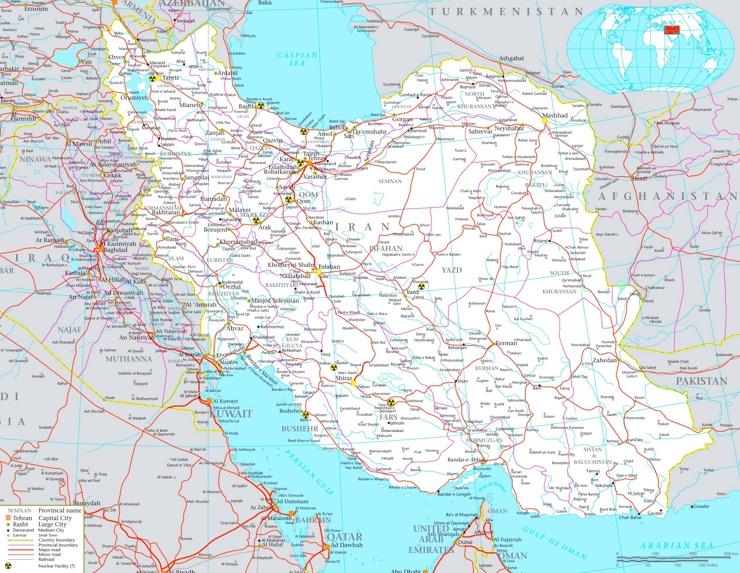 Große detaillierte karte von Iran
