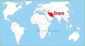 Iran auf der Weltkarte