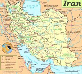 Iran politische karte