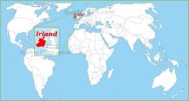 Irland auf der Weltkarte
