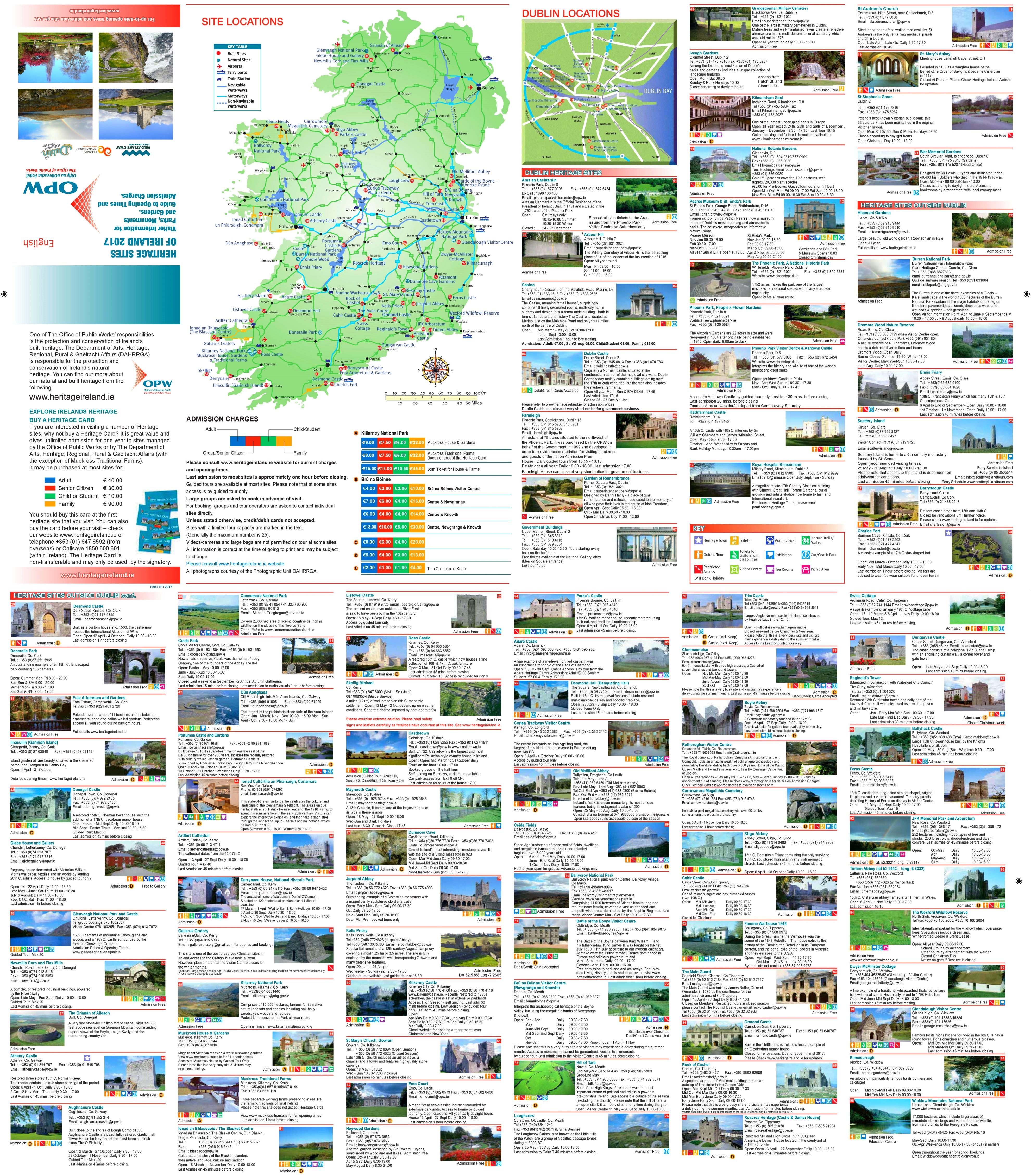 karte sehenswürdigkeiten irland Irland karte mit sehenswürdigkeiten