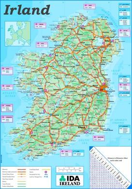 Straßenkarte Irland