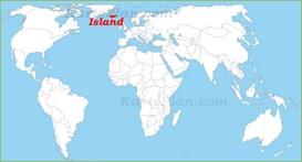 Island auf der Weltkarte