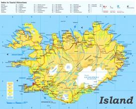 Island Karte Landkarten Von Island