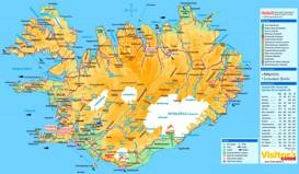 Straßenkarte Island