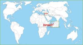 Israel auf der Weltkarte