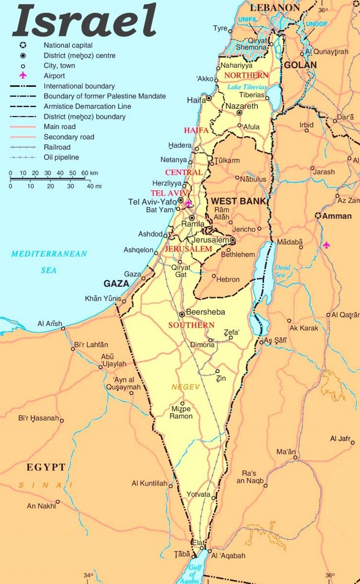 Israel politische karte