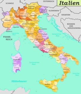 Italien Karte Landkarten Von Italien