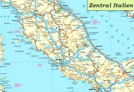 Karte von Zentral-Italien