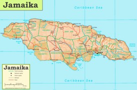 Straßenkarte Jamaika