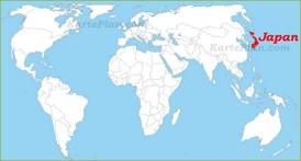 Japan auf der Weltkarte