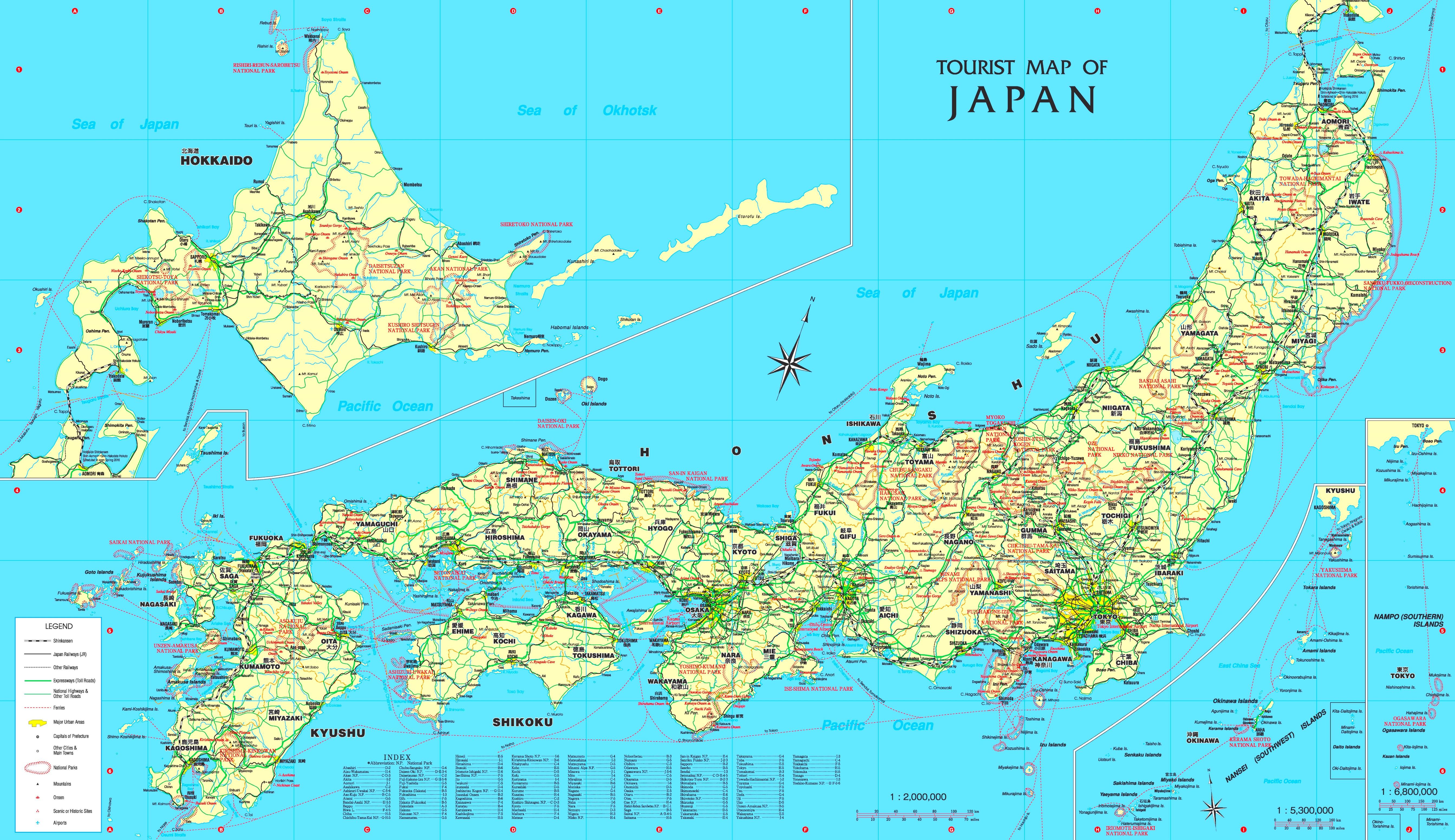 Japan Touristische Karte
