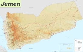 Große detaillierte karte von Jemen