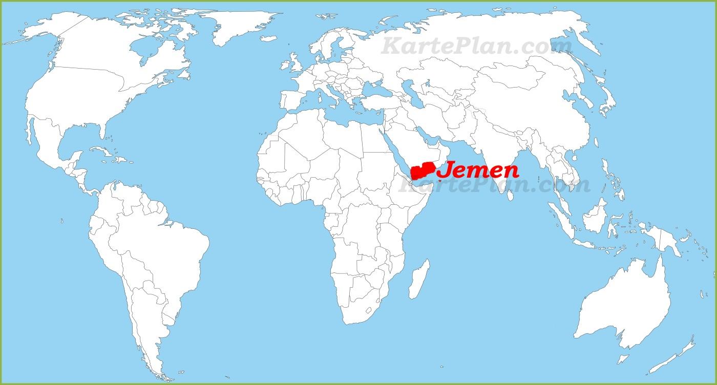 Jemen Auf Der Weltkarte