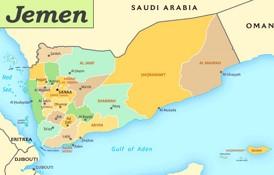Jemen politische karte