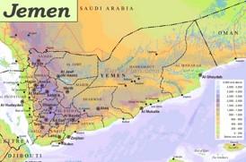 Physische landkarte von Jemen