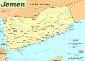 Straßenkarte Jemen