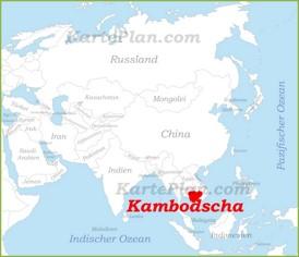 Kambodscha auf der karte Asiens