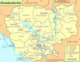 Kambodscha politische karte