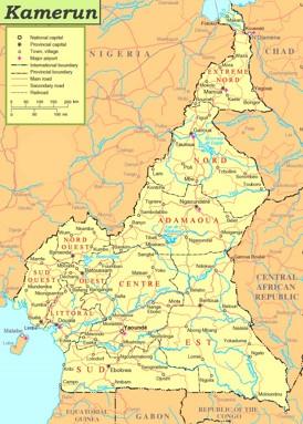 Kamerun politische karte