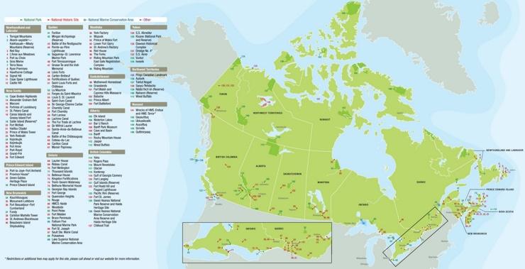 Kanada touristische karte